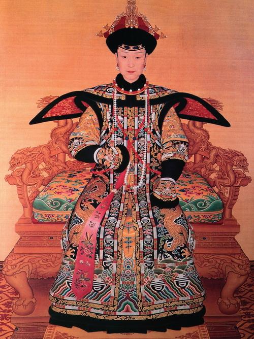 【图语:传统服饰,清代皇后服饰】-清代服饰