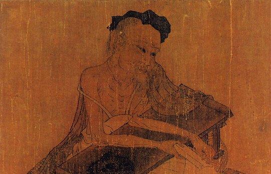 《伏生授经图》,唐代著名诗人、画家王维所画
