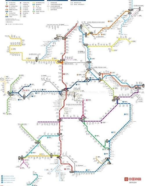 """一张32色""""全国高铁线路图""""因为画得如地铁图"""